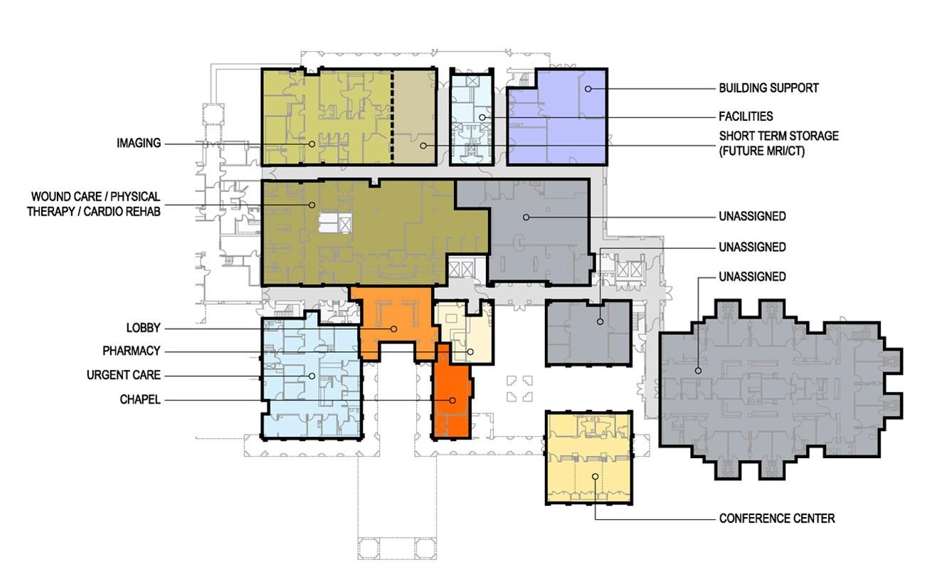 Depaul Lewis Center Floor Plan: St. Louise Regional Hospital Gilroy Master Plan